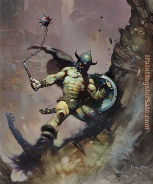 Frank Frazetta Warrior With Ball and Chain