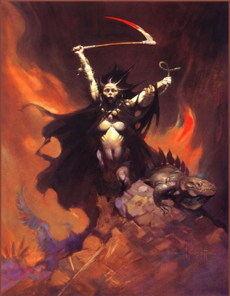 Frank Frazetta Woman with Scythe