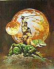 Frank Frazetta A Princess of Mars painting