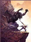 Frank Frazetta Cave Demon painting
