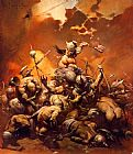 Frank Frazetta Conan the Destroyer painting