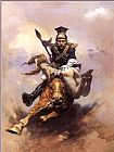 Frank Frazetta Flashman on the Charge painting