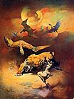 Frank Frazetta Flying Reptiles painting