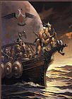 Frank Frazetta Kane on the Golden Sea painting