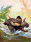 Frank Frazetta Monster out of Time painting