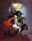 Frank Frazetta The Moon Maid and the Centaur painting