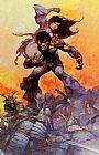 Frank Frazetta The Mucker painting