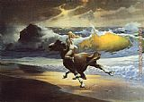 Frank Frazetta Wild Ride Nude Girl painting