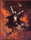 Frank Frazetta Woman with Scythe painting