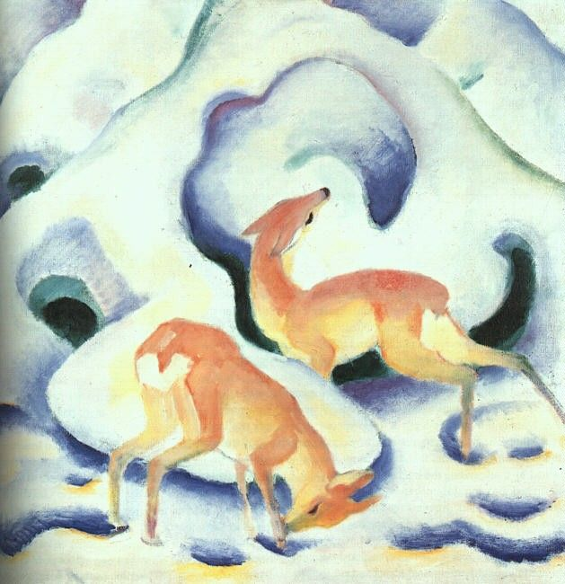 Franz Marc Deer in the Snow