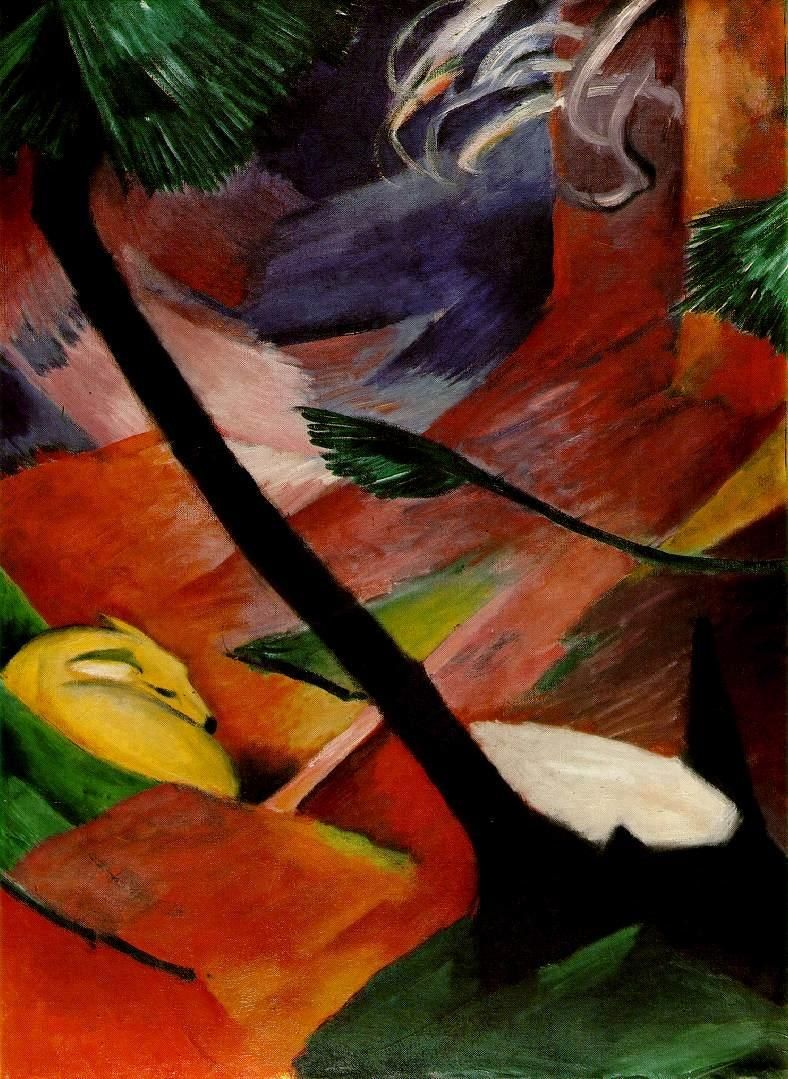 Franz Marc Deer in the Woods II