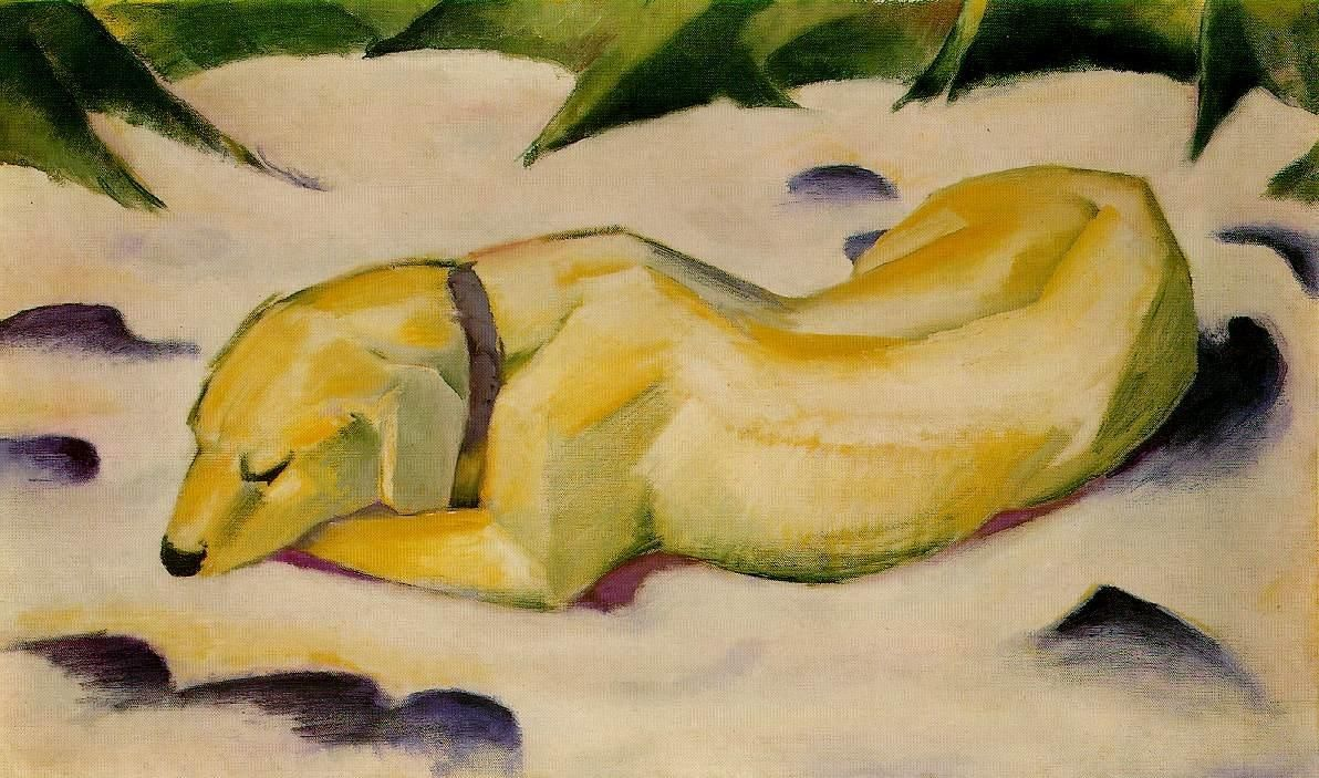 Franz Marc Dog Lying in the Snow