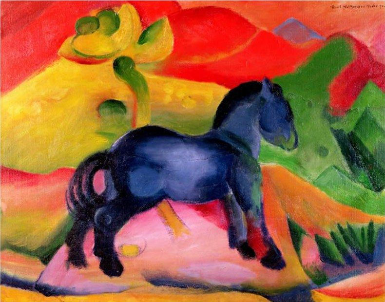 Franz Marc Little Blue Horse