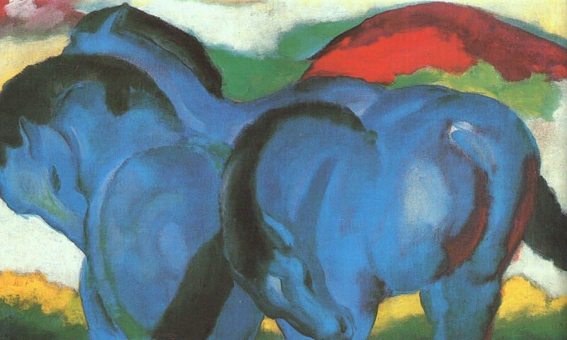 Franz Marc The Little Blue Horses