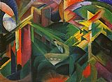 Franz Marc Deer in a Monastery Garden painting