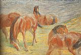 Franz Marc Grazing Horses I painting