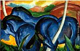 Franz Marc The Large Blue Horses painting
