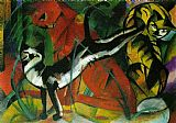 Franz Marc hree Cats painting