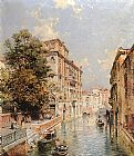 Franz Richard Unterberger A View in Venice, Rio S. Marina painting