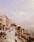 Franz Richard Unterberger A View of Posilippo, Naples painting