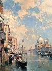 Franz Richard Unterberger The Grand Canal, Venice painting