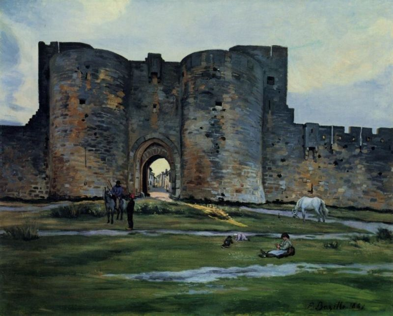 Frederic Bazille Queens Gate at Aigues-Mortes