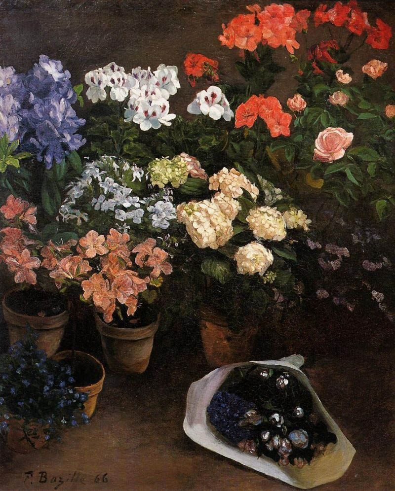 Frederic Bazille Study of Flowers