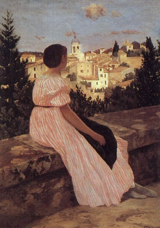 Frederic Bazille The Pink Dress