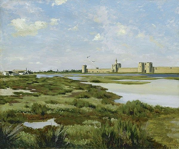 Frederic Bazille The Ramparts, Aigues-Mortes