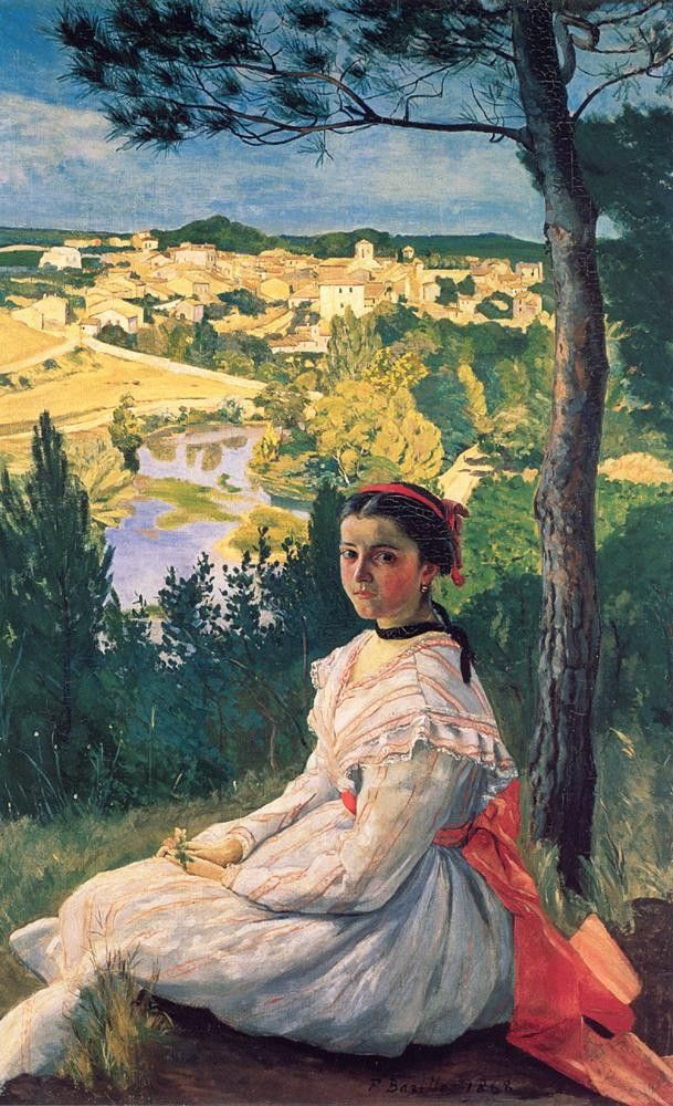 Frederic Bazille View of the Village