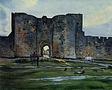 Frederic Bazille Queens Gate at Aigues-Mortes painting