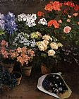 Frederic Bazille Study of Flowers painting