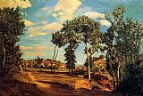 Frederic Bazille The Banks of the Lez painting