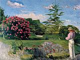 Frederic Bazille The Little Gardener painting