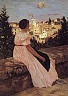 Frederic Bazille The Pink Dress painting