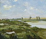 Frederic Bazille The Ramparts, Aigues-Mortes painting