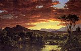 Frederic Edwin Church A Country Home painting