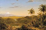 Frederic Edwin Church View of Cotopaxi painting