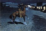 Frederic Remington An Arguement with the Town Marshall painting