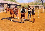 Frederic Remington Buying Polo Ponies in the West painting