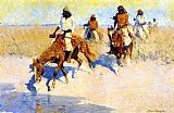 Frederic Remington Pool in the Desert painting