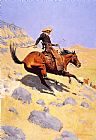 Frederic Remington The Cowboy painting