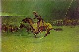 Hunting paintings - The Stampede by Frederic Remington