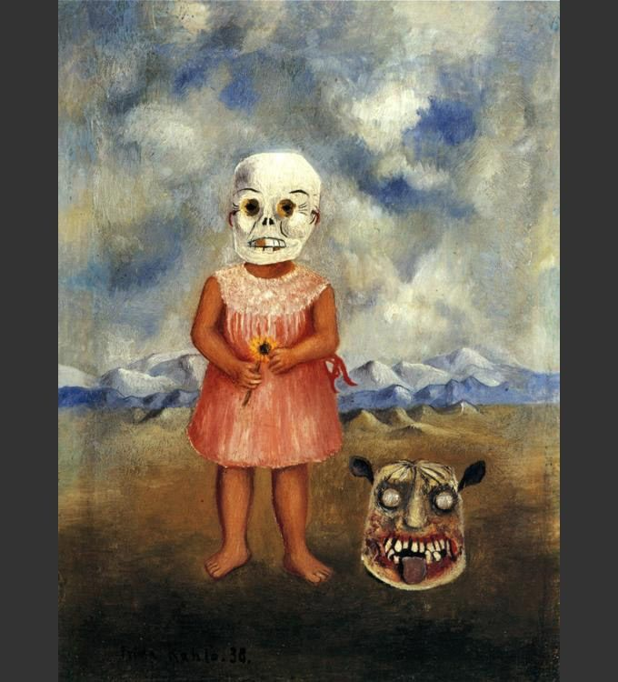 Frida Kahlo Girl with Death Mask