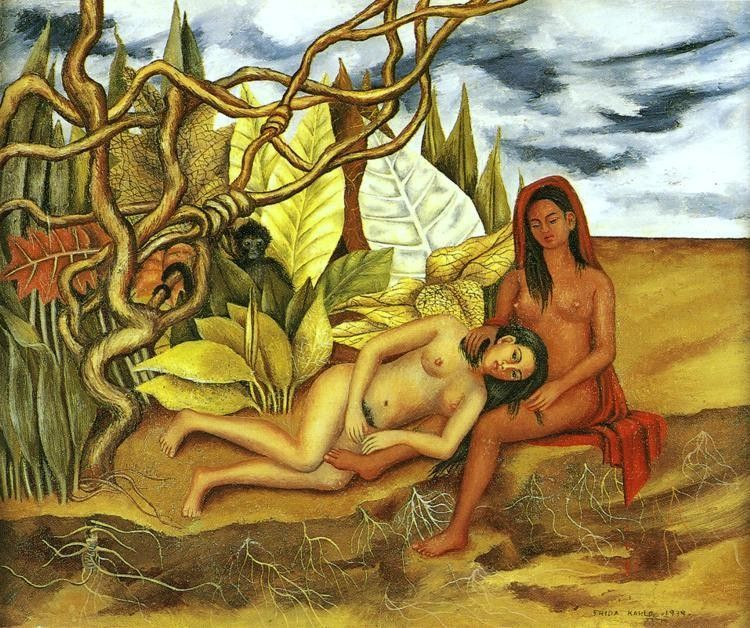 Frida Kahlo Two Nudes in the Forest