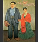 Frida Kahlo Frida and Diego Rivera painting
