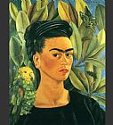 Frida Kahlo FridaKahlo-Self-Portrait-with-Bonito-1941 painting