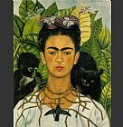 Frida Kahlo Self Portrait 1-1940 painting
