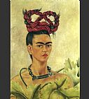 Frida Kahlo Self Portrait with Braid painting