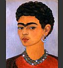 Frida Kahlo Self Portrait with Curly Hair painting